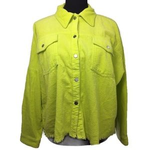 Zara Neon Green Jacket|Size M